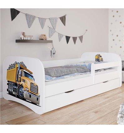 Детская кровать Kocot Kids Baby Dreams - Грузовой автомобиль белая
