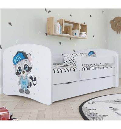 Детская кровать Kocot Kids Baby Dreams - Енот белая