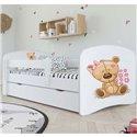 Детская кровать Kocot Kids Baby Dreams - Мишка с цветами белая