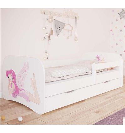 Детская кровать Kocot Kids Baby Dreams - Фея с крыльями белая
