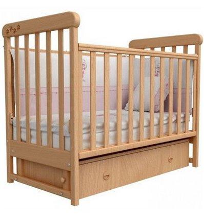 Кроватка Верес Соня ЛД12 с шухлядой и маятником, Цвет - бук