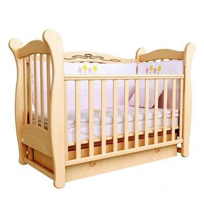Кроватка Верес Соня ЛД15 с шухлядой и маятником, Цвет - бук