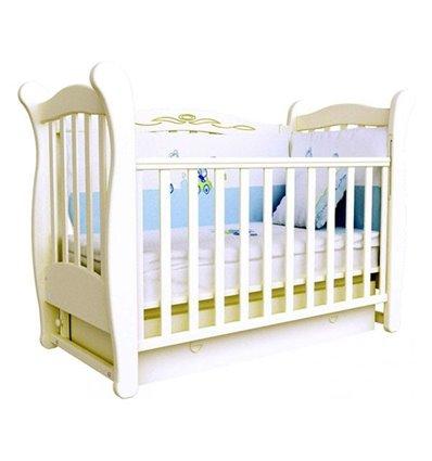 Кроватка Верес Соня ЛД15 с шухлядой и маятником, Цвет - слоновая кость