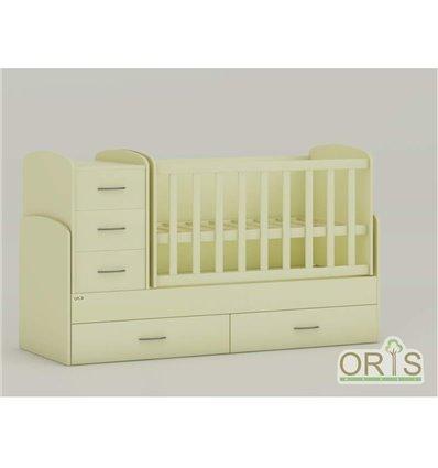 Детская кроватка-трансформер Oris Maya ваниль
