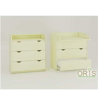 Комод-пеленатор Oris на 3 ящика ваниль