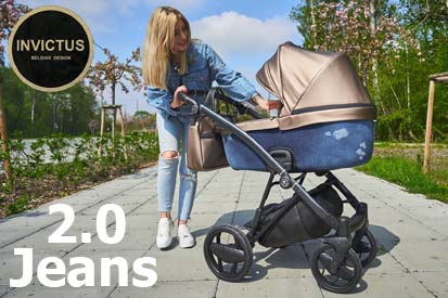 Детская универсальная коляска 2 в 1 Invictus V-Plus 2.0 Jeans Blue