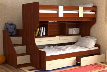 дитяче двоярусне ліжко